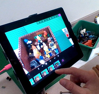 Student using a tablet computer