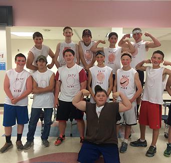 Group of spirited boys