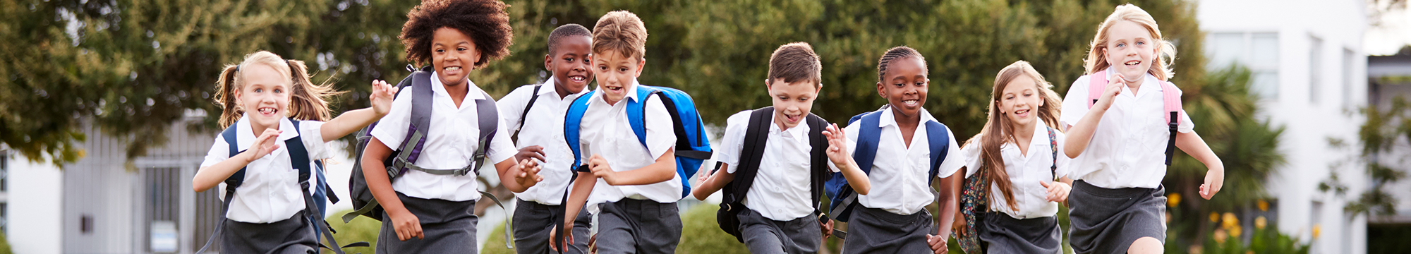 Students running together