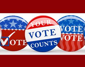 Vote Buttons, Your Vote Counts Button