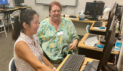 Adult education with computers