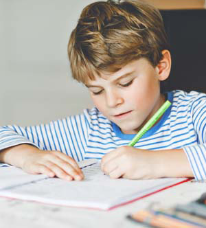 Young student studying