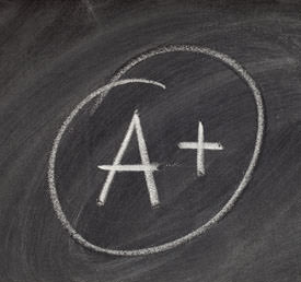 the letter A and the plus symbol written in chalk