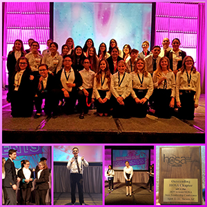 collage of HOSA students