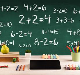 math problems on a chalkboard