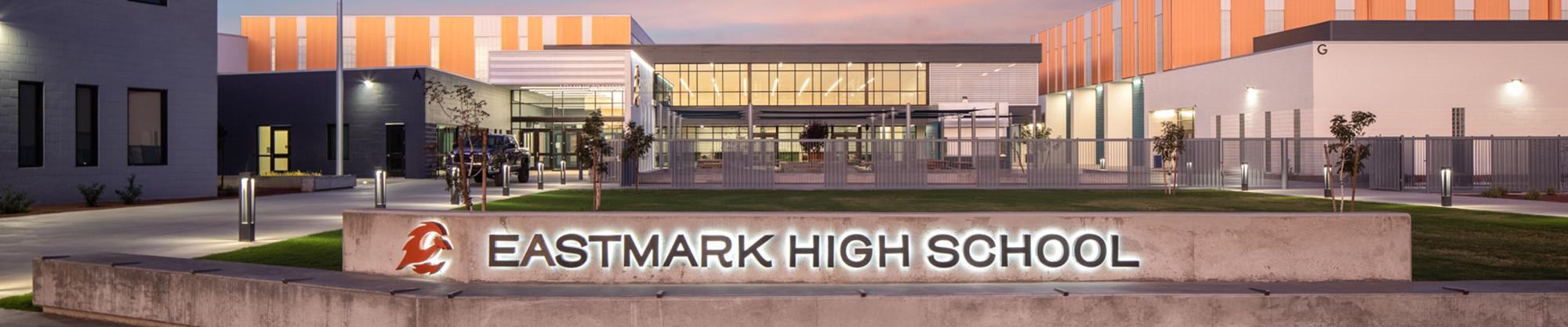 Eastmark High School front courtyard