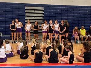 QCUSD cheerleaders at cheer camp