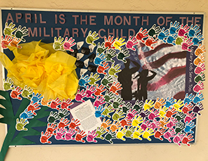 April is military family month