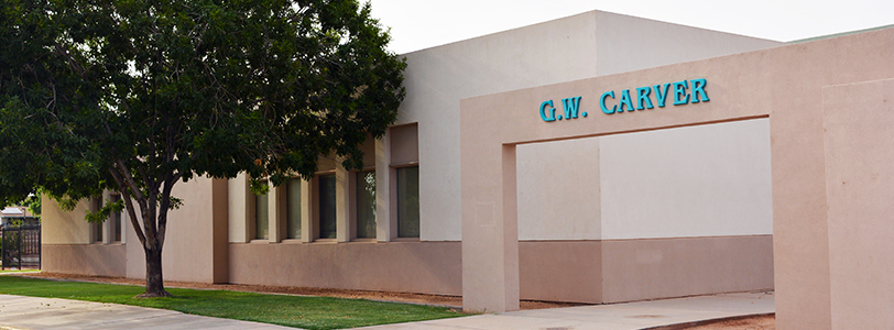 Front view of GW Carver Elementary School