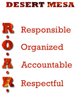 Desert Mesa - ROAR - Responsible, Organized, Accountable, Respectful