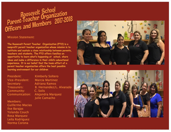 Roosevelt School PTO Officers and Members