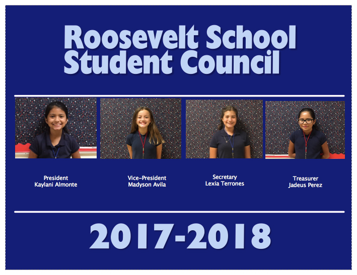 Roosevelt School Student Council 2017 through 2018