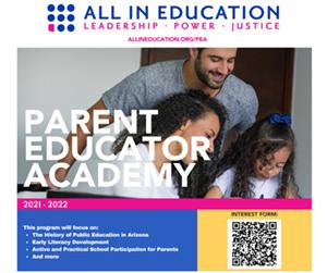 Parent Educator Academy Flyer
