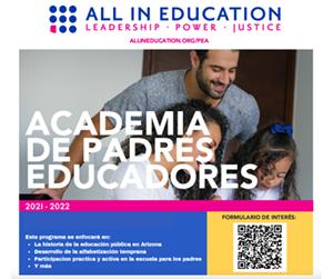 Academia De Padres Educadores Flyer