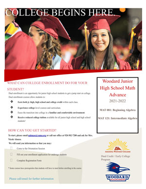 College Enrollment Flyer