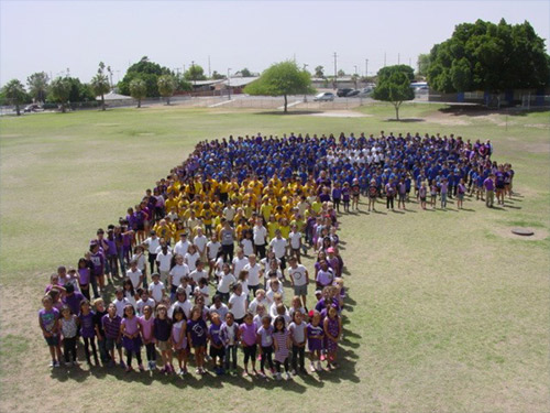 """Purple Up"" Day honoring Military Children, Palmcroft Elementary"