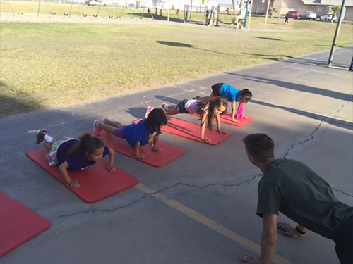 Palmcroft Elementary PT Night Honoring Militray Children