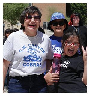 three boys on playground