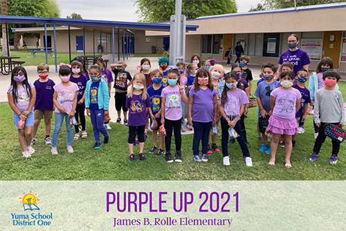 Purple Up 2021 James B Rolle Elementary