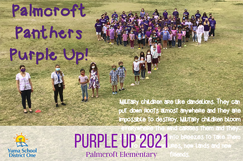 Purple it up 2021 Palmcroft elementary