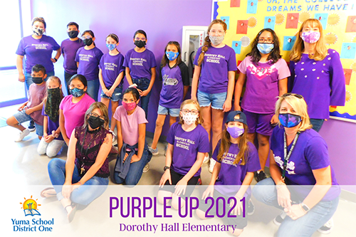 Purple it up Dorothy Hall Elementary