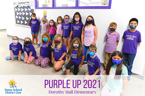 Purple it up Dorothy Hall Elementary less students