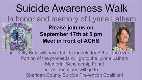 Click to view Suicide Awareness Walk flyer