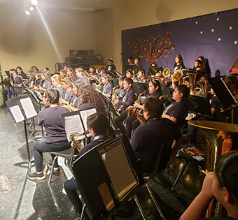 band students performing in a concert