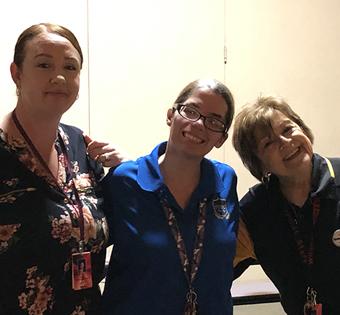 three staff members