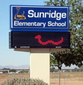 Sunridge Elementary School sign