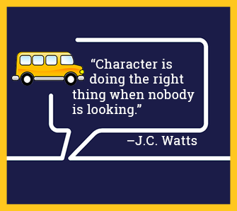 Character is doing the right thing when nobody is looking. - J.C. Watts
