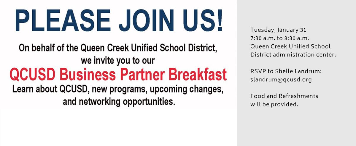 QCUSD Business Partners Breakfast