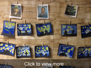 View more photos of the students' artwork