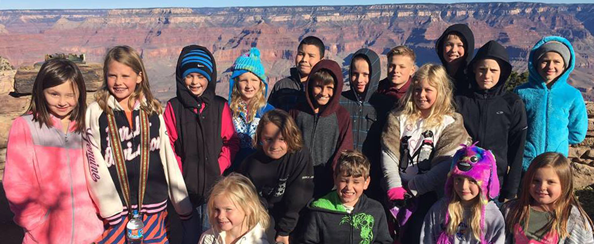 students at Grand Canyon Field Trip