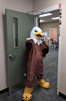 Queen Creek Elementary School eagle mascot