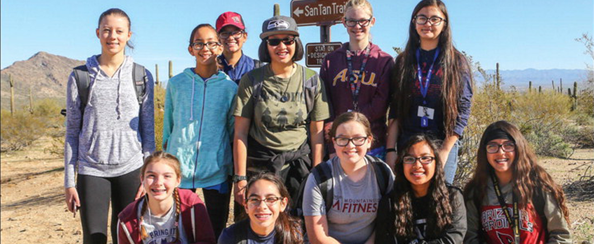 7th Grade Students Visit San Tan Regional Park