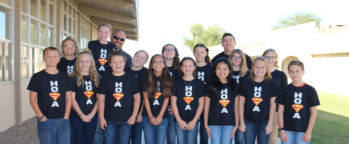 First Middle School HOSA Chapter in Arizona!