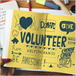 Donate. Give. Volunteer. Well done. Here. Helping hands. Such a great idea. Be awesome!