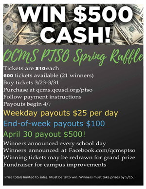 PTSO Spring Raffle Flyer