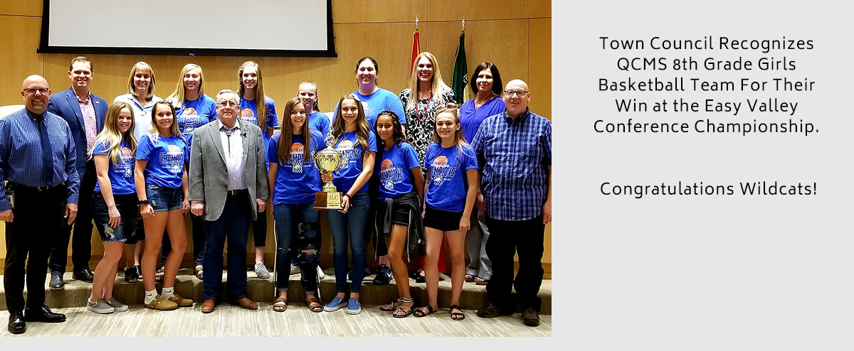 QCMS 8th Grade Girls Basketball Team Recognized By Queen Creek Town Council For Their East Valley Conference Championship Win. Congratulations Wildcats!