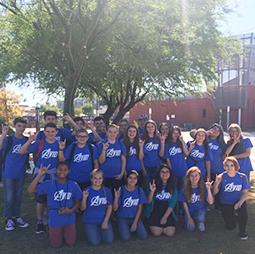 AVID students pose outside