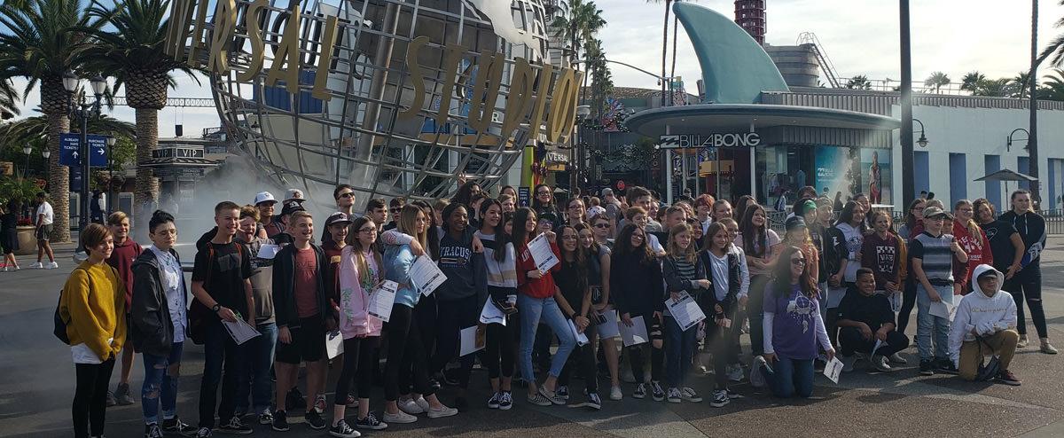 Students at Universal Studios
