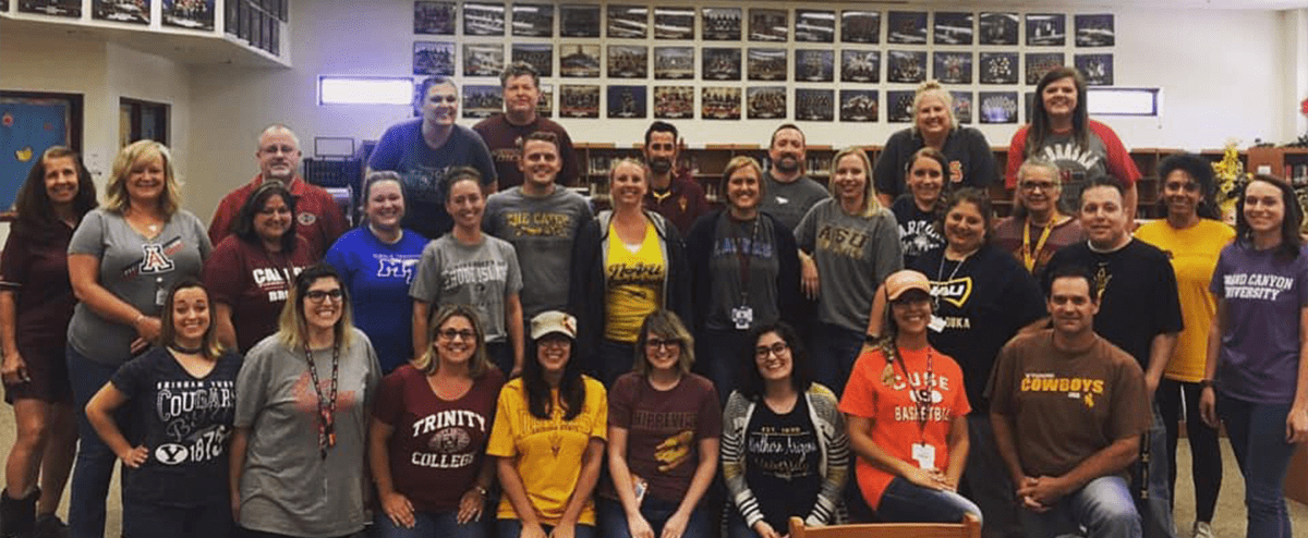 Teachers set the example for AVID College Wednesday!