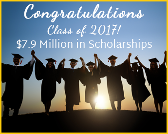 Congratulations Class of 2017! 7.9 million in scholarships