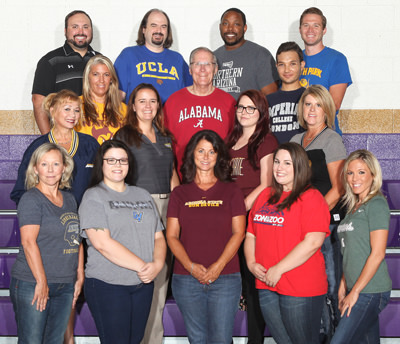 English department staff members pose together
