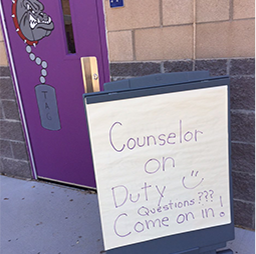 Counselor on duty come on in