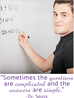 Sometimes the questions are complicated and the answers are simple-Dr. Deuss