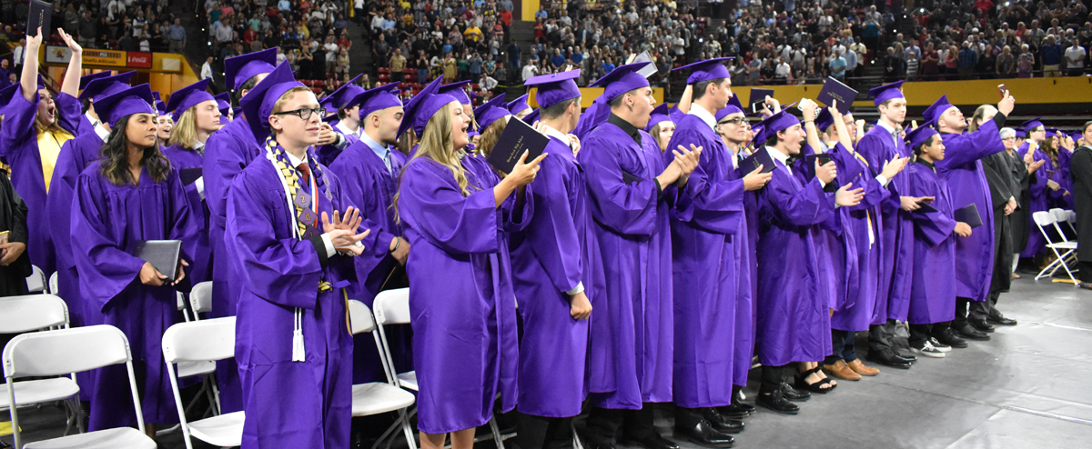 Graduating students od Queen Creek High School Class of 2019