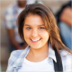 Smiling female student