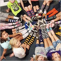 Faith Mather Crazy Sock day for spirit week